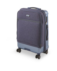 Medium Blue Hybrid Suitcase
