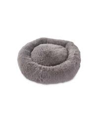 Medium Dog Bed - Grey Long Pile