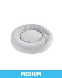 Medium Comfy Short Pile Pet Bed - Grey