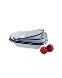 Medium Enamel Pie Dishes 4-Pack