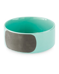 Medium Green Chalk Ceramic Pet Bowl