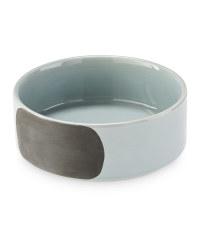Medium Grey Chalk Ceramic Pet Bowl