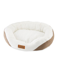 Medium Oval Pet Bed - Brown