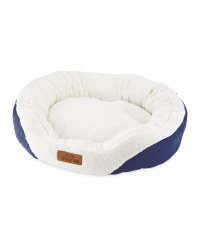 Medium Oval Pet Bed - Navy