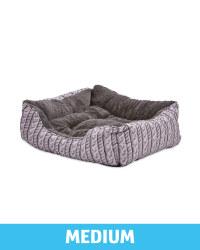 Medium Plush Pet Bed Printed Knit