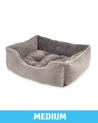 Medium Plush Pet Bed - Grey
