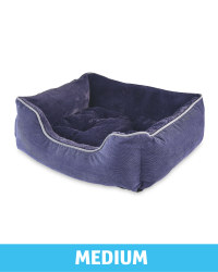 Medium Plush Pet Bed - Navy