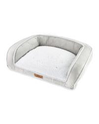 Medium Recycled Pet Bed - Light Grey