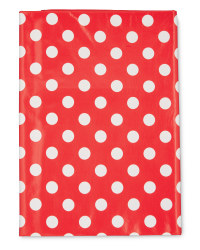 Medium Red Dotted PVC Tablecloth