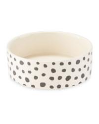 Medium Spot Printed Ceramic Pet Bowl