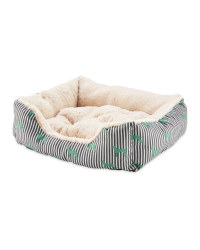 Medium Teal Plush Pet Bed