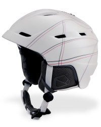 Medium White & Red Adult Ski Helmet