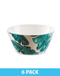 Melamine Leaf Bowl 6 Pack