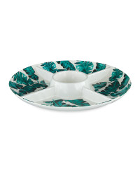 Melamine Leaf Chip & Dip Bowl
