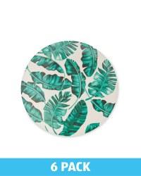 Melamine Leaf Plate 6 Pack