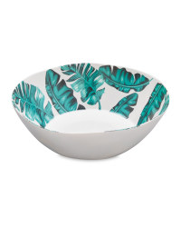 Melamine Leaf Salad Bowl