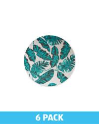 Melamine Leaf Side Plate 6 Pack