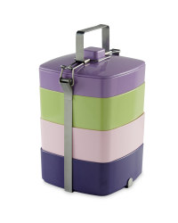 Melamine Stacking Tiffin Box - Purple / Green