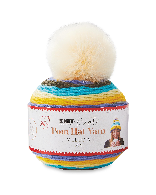 Mellow Pom Hat Yarn