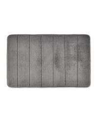 Vertical Memory Foam Bath Mat - Light Grey