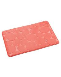 Memory Foam Pebble Bath Mat - Coral