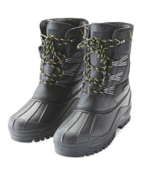 Crane Men's Winter Boots - Black/Yellow