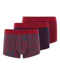 Men's 3 Pack Red/Navy Hipsters