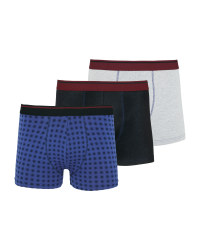 Men's Spotted Hipster Boxers 3 Pack