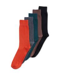 Men's 5 Pack Dark Cotton Rich Socks