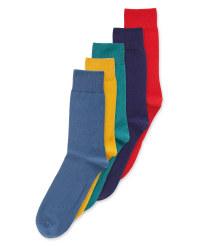 Men's Colourful Cotton Socks 5 Pack