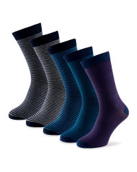 Men's All-Over Striped Socks 5-Pack