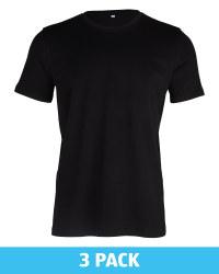 Men's Avenue Black T-Shirt 3 Pack