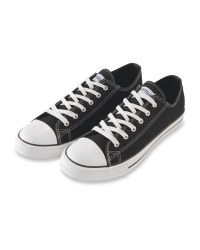 Men's Avenue Canvas Trainers - Black