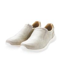 Mens Beige Comfort Slip On Shoes