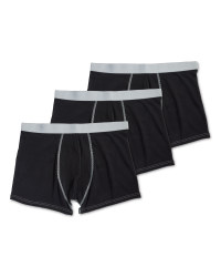 Men's Avenue Black 3-Pack Hipsters