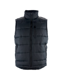 Men's Black Collared Gilet
