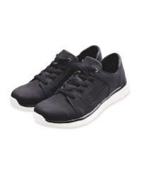 Men's Black Comfort Lace Up Shoes