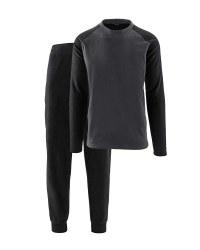 Men's Black Fleece Loungewear Set