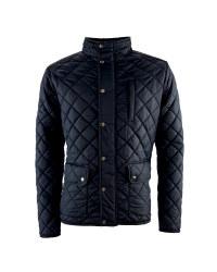 Men's Black Quilted Winter Jacket