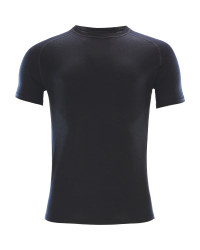 Men's Black Short Sleeved Top