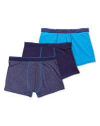 Men's Avenue Blue 3-Pack Hipsters