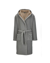 Avenue Men's Dressing Gown - Grey