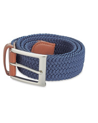 Men's Braided Belt - Navy