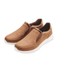 Men's Brown Comfort Slip On Shoes