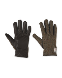 Men's Brown Harris Tweed Gloves