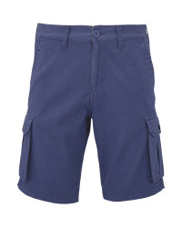 Men's Blue Cargo Shorts