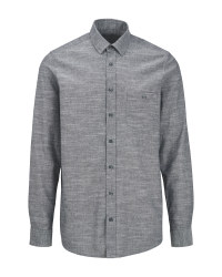 Avenue Men's Grey Casual Shirt
