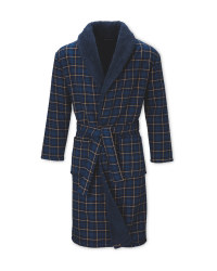 Avenue Men's Checked Dressing Gown