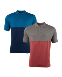 Men's Colour Block Polo Shirt