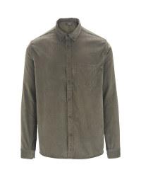 Men's Corduroy Shirt - Green